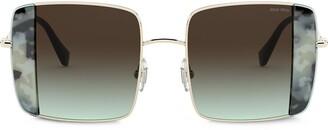 Miu Miu Noir oversized-frame sunglasses