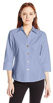 Foxcroft Women's Petite 3/4 Sleeve Paige Essential Non Iron Shirt