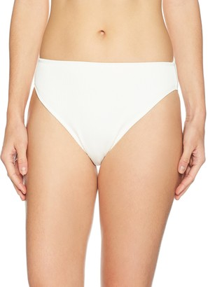 Mae Amazon Brand Women's Swimwear Ribbed Bikini Bottom (for A-C cups)