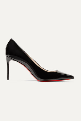 Christian Louboutin Kate 85 Patent-leather Pumps - Black