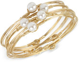 INC International Concepts 5-Pc. Set Imitation Pearl Bangle Bracelet, Only at Macy's