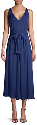 Donna Karan Waist-Tie Midi Dress