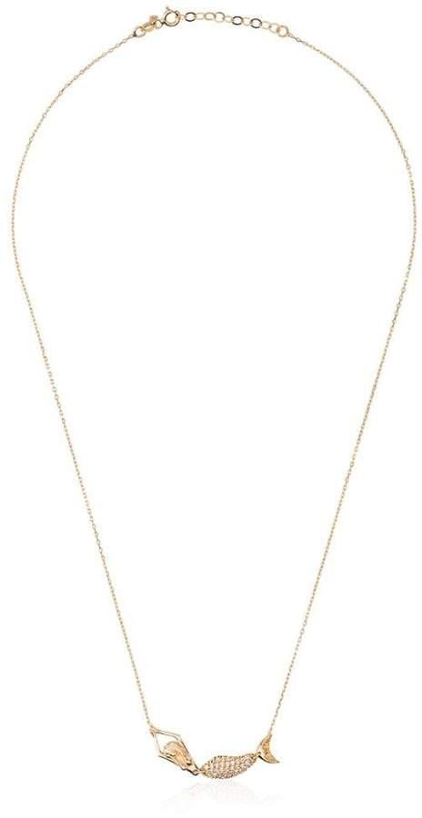 Anton Heunis Gold Mermaid Diamond Necklace