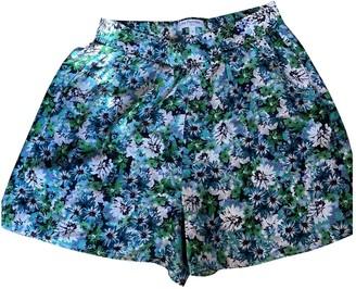 Les Petites Green Silk Shorts for Women