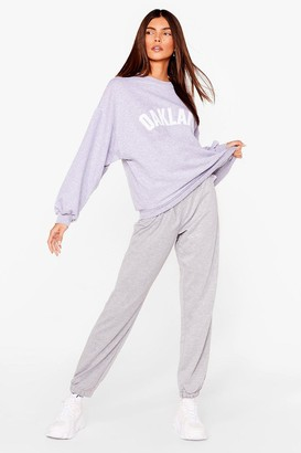 Nasty Gal Womens Run This Town High-Waisted Relaxed Joggers - Grey - 8, Grey