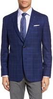 Ted Baker Men's Tom Trim Fit Windowpane Wool Sport Coat