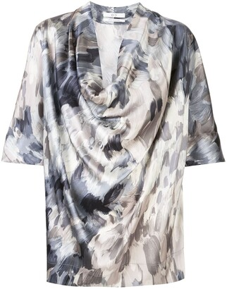 Co Silk Draped Blouse