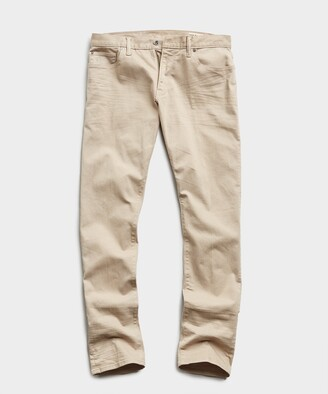 Todd Snyder Slim Fit 5-Pocket Garment-Dyed Stretch Twill in Casual Khaki
