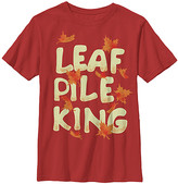 Chin Up Apparel Boys' Tee Shirts RED - Red 'Leaf Pile King' Tee - Boys