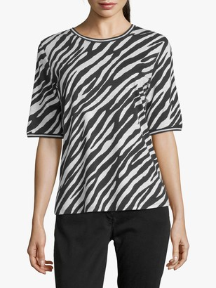 Betty Barclay Cotton Blend Zebra Print T-Shirt