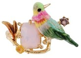 Les Nereides Loves Animals Hummingbird And Stone Adjustable Ring.