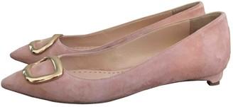 Rupert Sanderson Pink Suede Flats