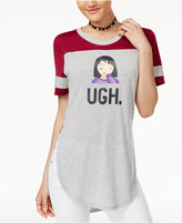 Freeze 24-7 Juniors' Ugh Emoji Graphic T-Shirt