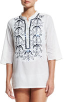 Figue Jasmine Embellished Coverup Tunic