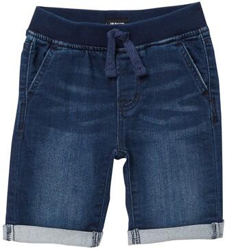 Hudson Taj Pull-On Knit Denim Shorts