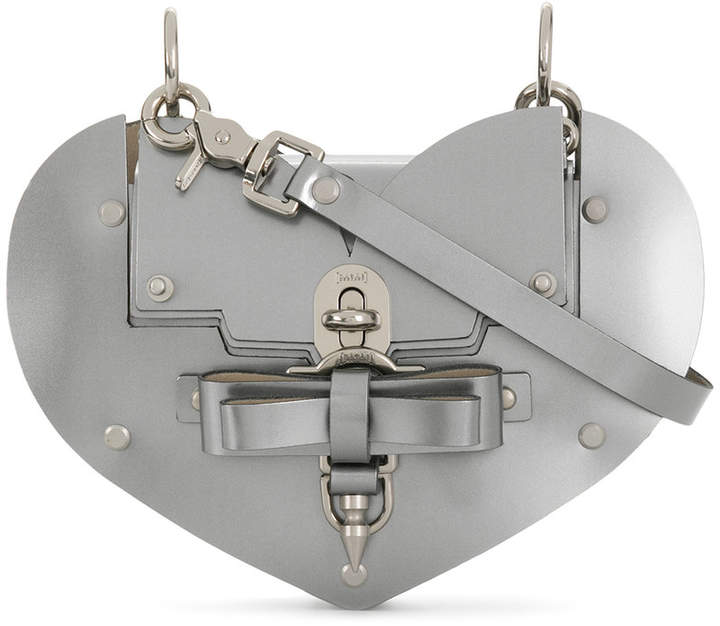 Niels Peeraer Heart turn-lock handbag