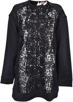 N°21 N 21 Lace Panel Sweatshirt