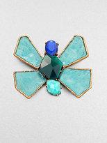 Oscar de la Renta Bright Butterfly Brooch