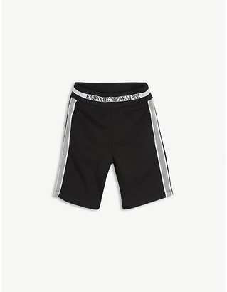 Emporio Armani Branded cotton-jersey shorts 4-16 years