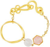 Stephanie Kantis Organic 24k Gold-Dipped Rose Quartz Bracelet
