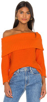 Alice + Olivia Bonnie Off The Shoulder Pullover Sweater