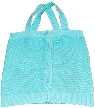 Courreges Turquoise Cotton Top for Women Vintage