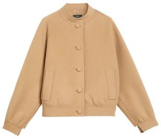 Max Mara Wool Bomber Jacket