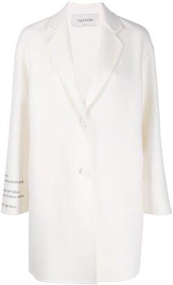 Valentino Poem Detail Single Breasted Coat