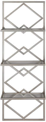 "Uttermost Silvia Wall Shelf, Silver, 17.75""x51.5"""
