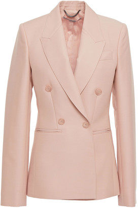 Stella McCartney Double-breasted Wool-blend Crepe Blazer
