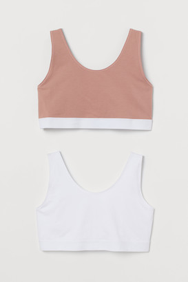 H&M H&M+ 2-pack Cotton Bra Tops