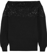 Valentino Bead-Embellished Wool And Cashmere-Blend Sweater