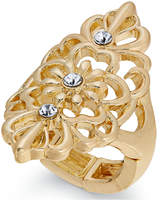 Thalia Sodi Gold-Tone Crystal Filigree Ring, Created for Macy's