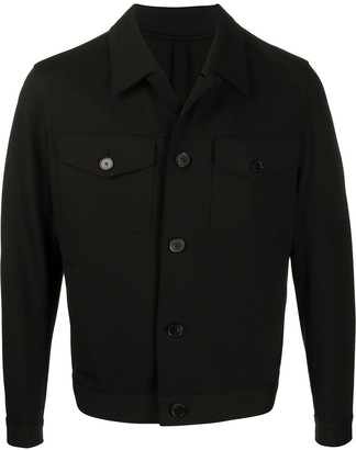 Harris Wharf London Pointed Collar Shirt Jacket