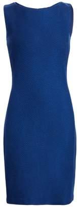 St. John Gridded Texture Knit Dress