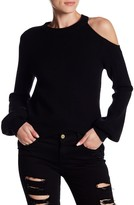 Do & Be Do + Be Cold Shoulder Ribbed Knit Unbalanced Sweater