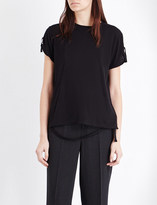 Helmut Lang Strap detail cotton and cashmere t-shirt
