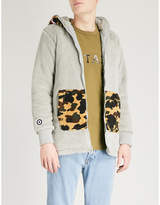 A Bathing Ape Camo-print shark-hood fleece jacket