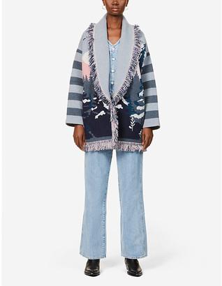 Alanui Frozen fair isle-pattern cashmere cardigan