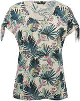 M&Co Tropical tie sleeve top