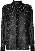 Carven splatter print sheer shirt