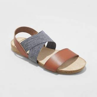 Universal Thread Women's Kerryn Elastic Strap Footbed Slide Sandals