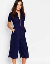 Daisy Street Zip Front Minimal Jumpsuit