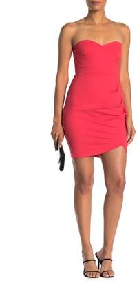 Love by Design Strapless Side Ruched Dress