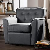 Baxton Studio Canberra Contemporary Gray Fabric Upholstered Accent Chair