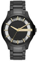 Armani Exchange Hampton Black And Gold Stainless Steel Watch