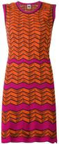M Missoni geometric pattern knitted dress - women - Cotton/Polyamide/Polyester/Spandex/Elastane - 38