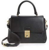 Ted Baker Luggage Lock Leather Satchel - Black
