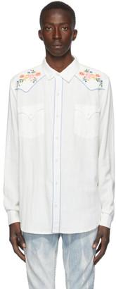 Double Rainbouu White Western Shirt