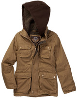 Urban Republic Washed Cotton Twill Safari Jacket with Faux Fur Lining (Big Boys)